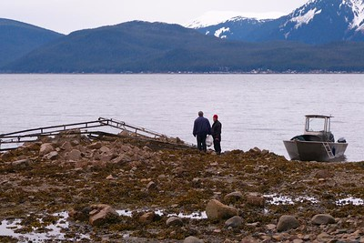 Discussing What To Do With Our Latest Find April 2013, Cynthia Meyer, Chichagof Island, Alaska