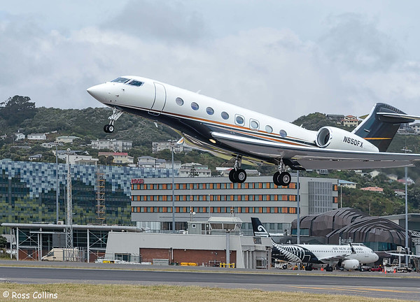 Gulfstream G650ER N650FX at Wellington 2020