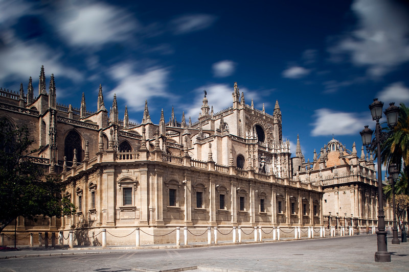 South side of Santa Maria de la Sede Cathedral, Seville, Spain