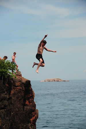 Jumping the Black Rocks of Marquette