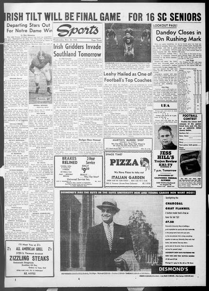 Daily Trojan, Vol. 45, No. 47, November 25, 1953