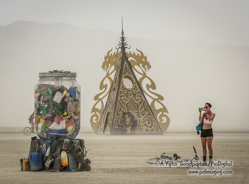 """""""Jar of Sand"""" with """"Ascension Temple"""" in the background."""