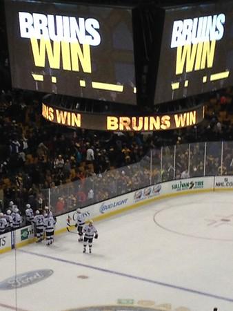 Bruins Welcome SJA Jan 31, 2015