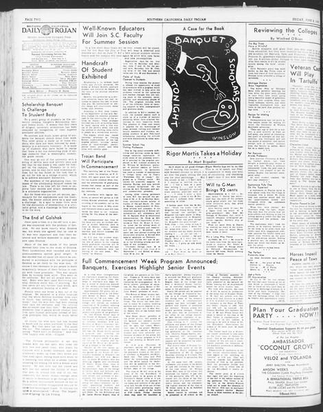 Daily Trojan, Vol. 30, No. 149, June 02, 1939