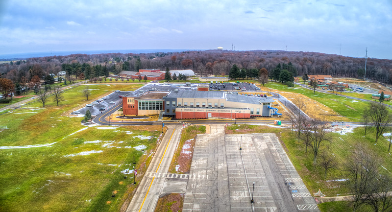 Broadview Heights Community Center Winter Drone