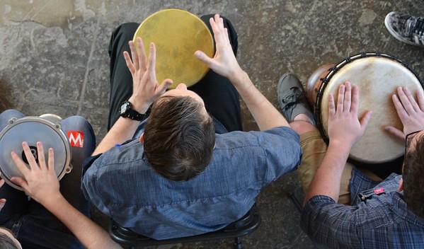 Drum Circle at Mass MoCA - 122116