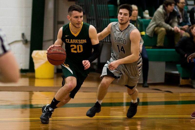 Clarkson Athletics: Men Basketball vs. Bard. Clarkson win 76-71