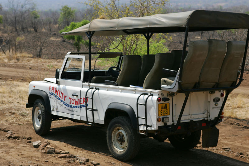 the rear seat is the best seat. Seen in Zambia, Africa