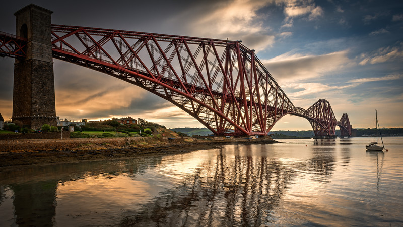 The Forth Railway Bridge in the early morning light. The tide was rushing away very quickly here and I never got the right shot for the long exposure plans I had, but this came out OK-ish as a normal shot.