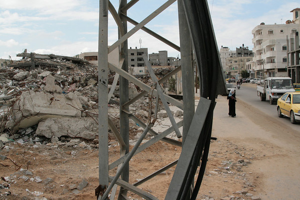War damage Gaza March 2009