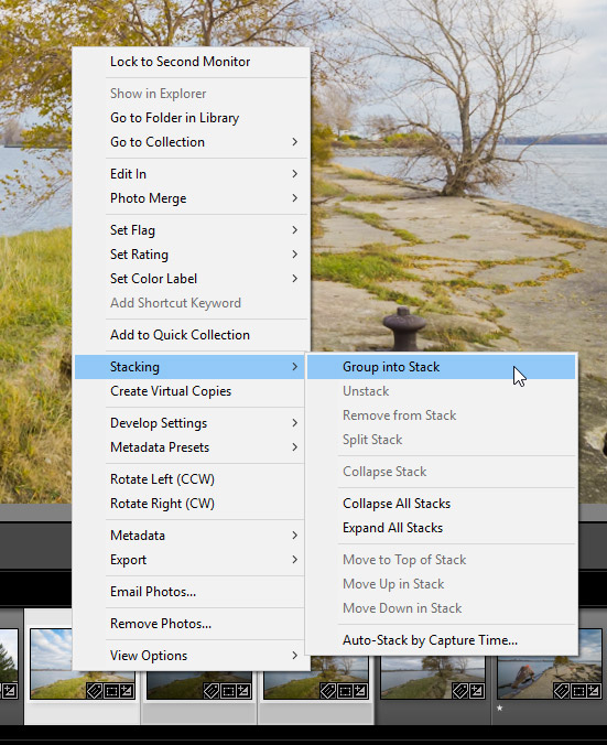 Lightroom Tutorial: Groupinto Stck