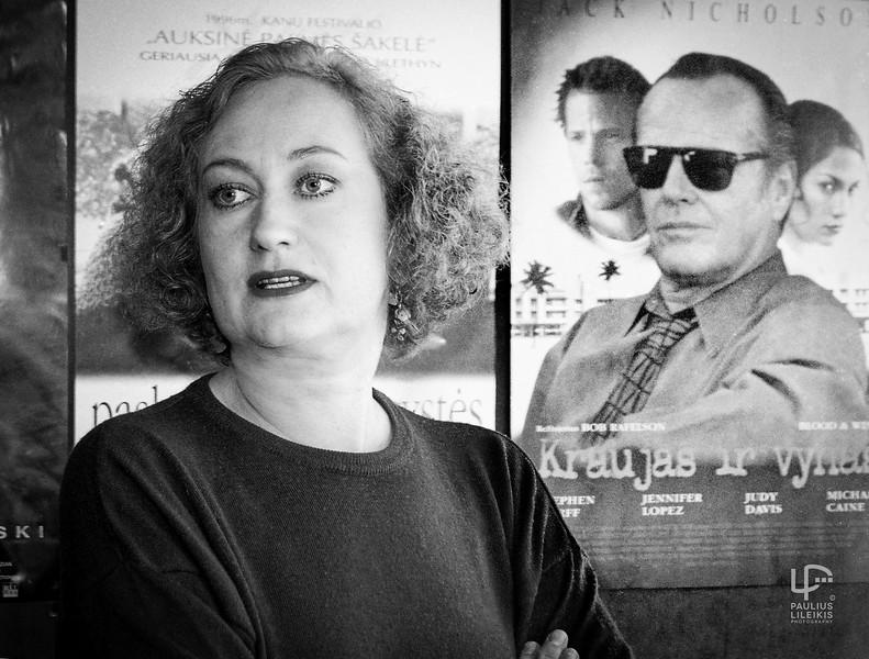 Žurnalistė, kino kritikė Izolda Keidošiūtė 1998.3.26.