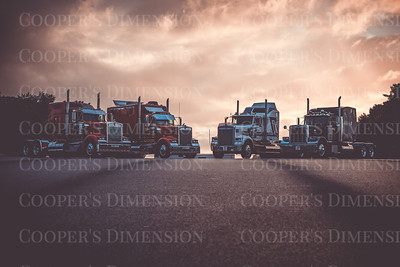 Clive Shaw Trucking photoshoot