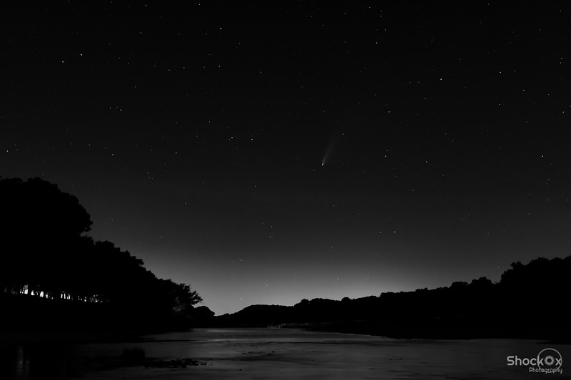 Comet Neowise over the Brazos River