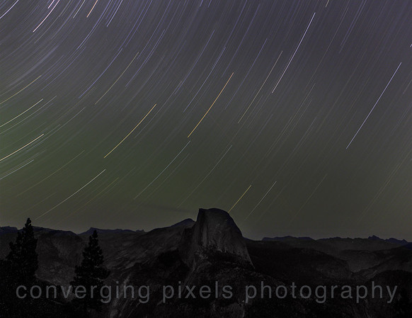 Star Trails taken at Glacier Pt., Yosemite  Aug. 8,13  (taken for 45 min.)