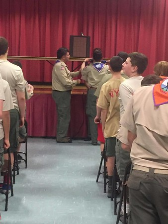 Carrington Receives Eagle Badge 4-26-17