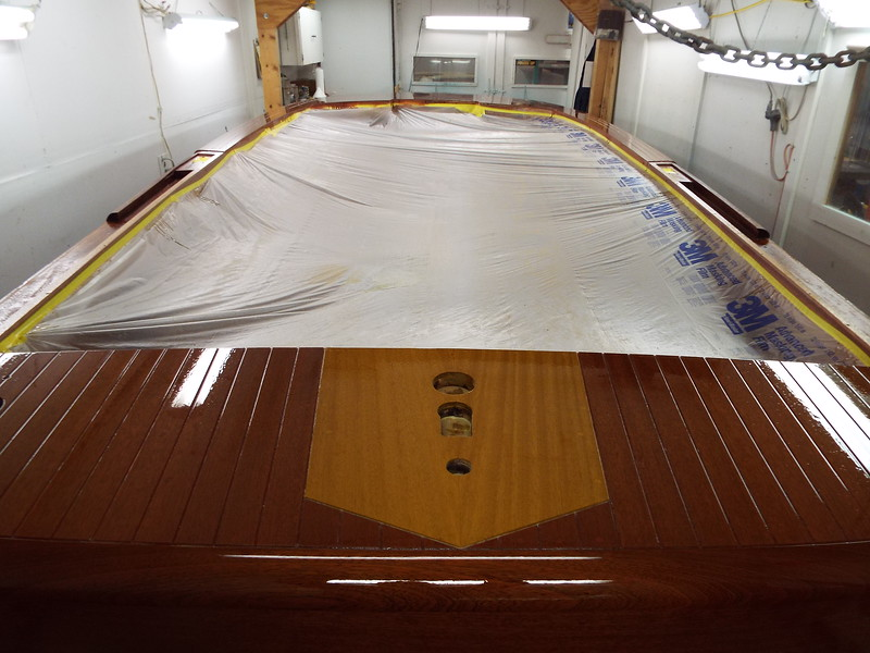 Rear deck with six coats applied.