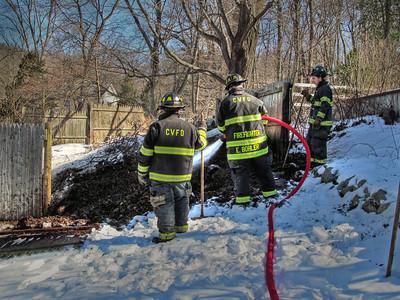 2-18-13 Brush Fire, Aqueduct Road