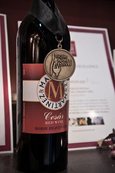 2012.10 - Chad's birthday: wine tasting in Prosser, WA. Yummy Cesar Red at Martinez and Martinez Winery.