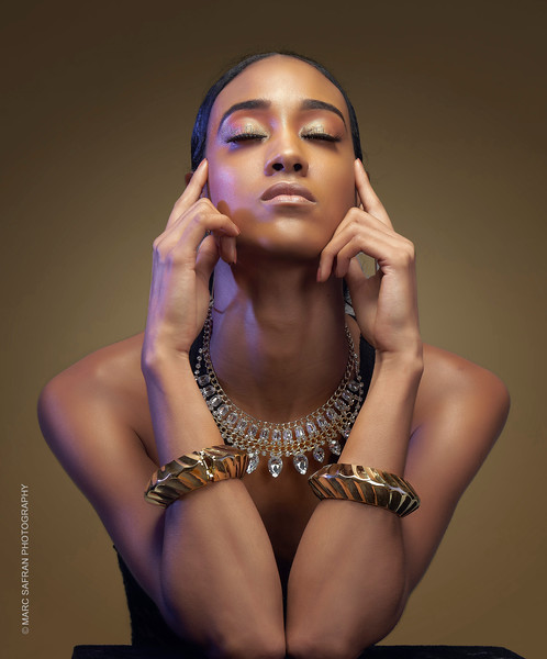 Model: Tiffany Mora, MUA January Green