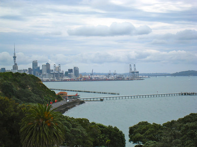 View of downtown Auckland from Bastion Point.