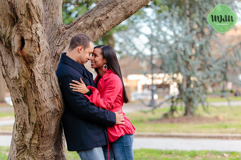 Cozy, Sweet, Downtown Raleigh Winter Engagement Photography - MKM Photography (5).jpg