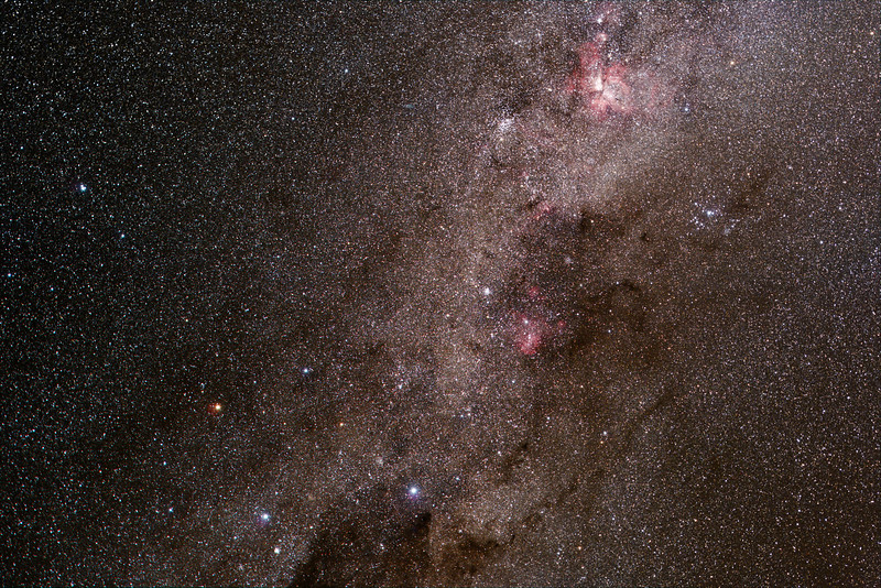 Southern Cross and Carina region - 22/5/2020 (Processed stack)