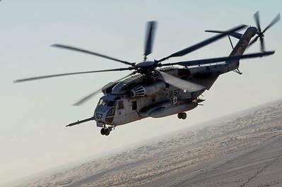 Marine WTI School, 09/27/2014 Yuma, AZ, CH-53 to CH-53