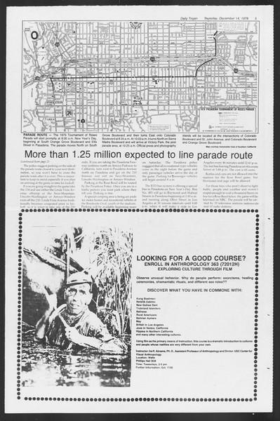 Daily Trojan, Vol. 75, No. 55, December 14, 1978