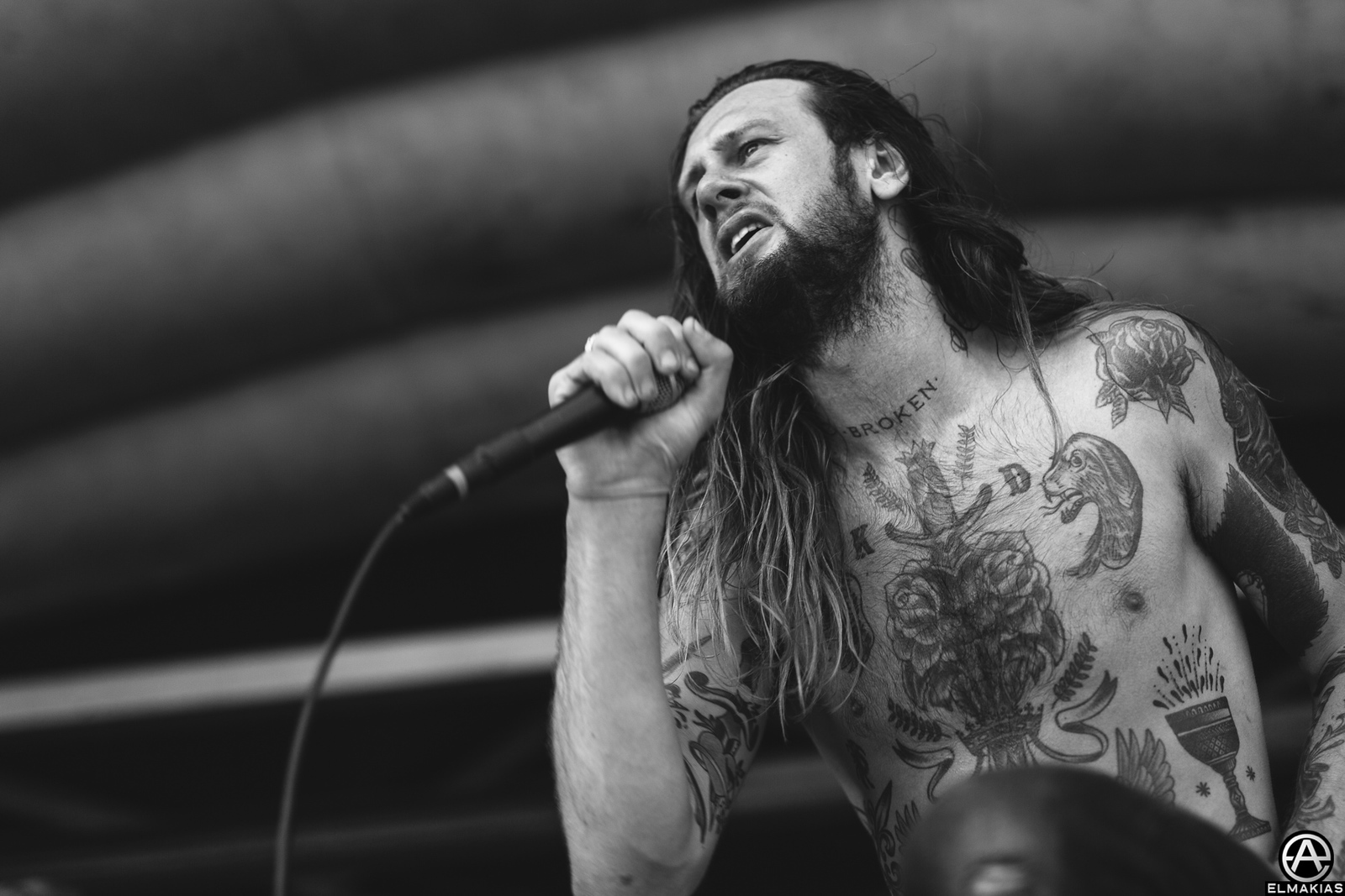Lawrence Taylor of While She Sleeps at Vans Warped Tour 2015 by Adam Elmakias