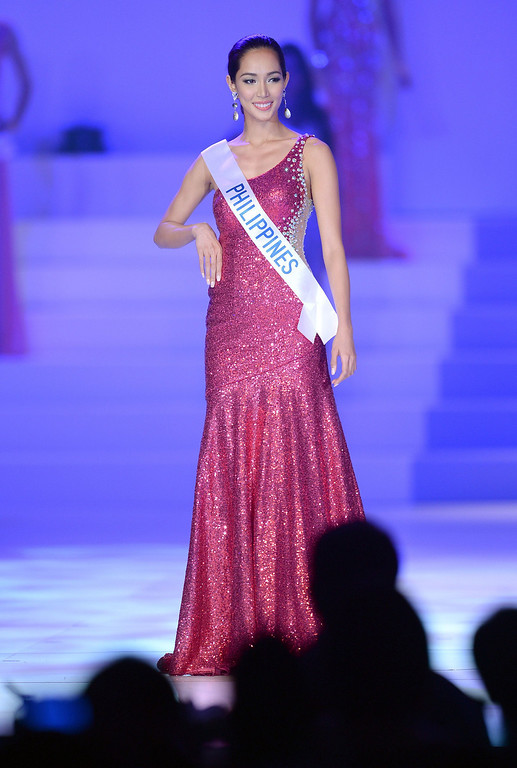 . Bea Rose Santiago of the Philippines appears on stage during Miss International Beauty Pageant in Tokyo on December 17, 2013. The 23-year-old from the Philippines won the crown of this year\'s Miss International. TORU YAMANAKA/AFP/Getty Images