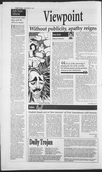 Daily Trojan, Vol. 132, No. 46, November 03, 1997