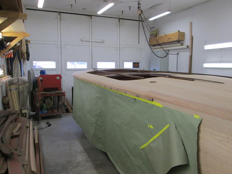 Port shear clamp rail installed.