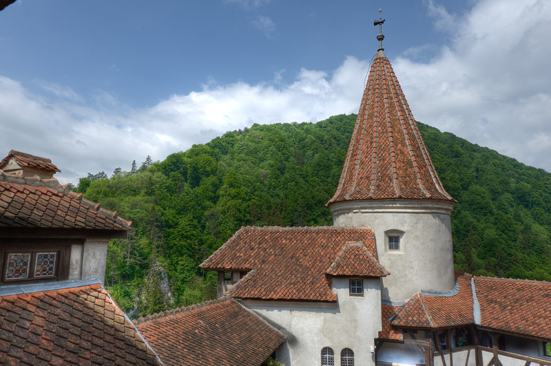 The tower building in Bran Castle - Sighisoara, Romania