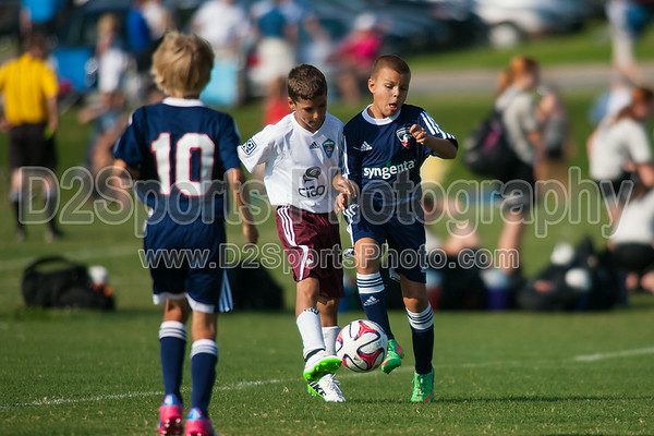 03 GUSA NAVY vs 03 CR BURGUNDY RAPIDS - U11 Boys 8/16/2014