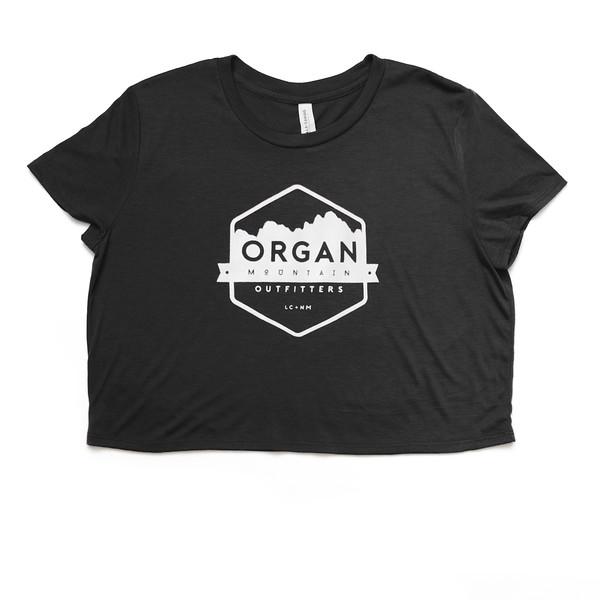 Organ Mountain Outfitters - Outdoor Apparel - Womens T-Shirt - Classic Crop Top - Black.jpg
