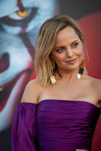 "WESTWOOD, CA - AUGUST 26: Mena Suvari attends the Premiere Of Warner Bros. Pictures' ""It Chapter Two"" at Regency Village Theatre on Monday, August 26, 2019 in Westwood, California. (Photo by Tom Sorensen/Moovieboy Pictures)"