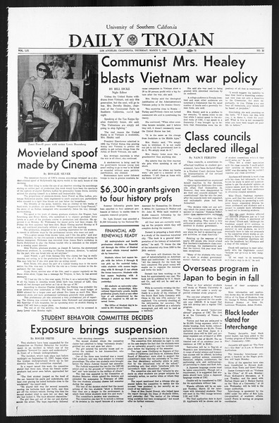 Daily Trojan, Vol. 59, No. 85, March 07, 1968