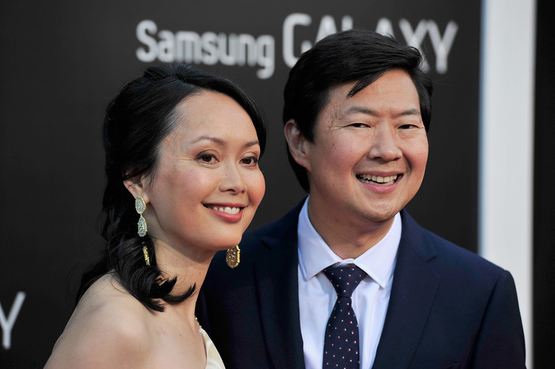 """. Tran Jeong (L) and actor Ken Jeong attend the premiere of Warner Bros. Pictures\' \""""Hangover Part 3\"""" at Westwood Village Theater on May 20, 2013 in Westwood, California.  (Photo by Frazer Harrison/Getty Images)"""