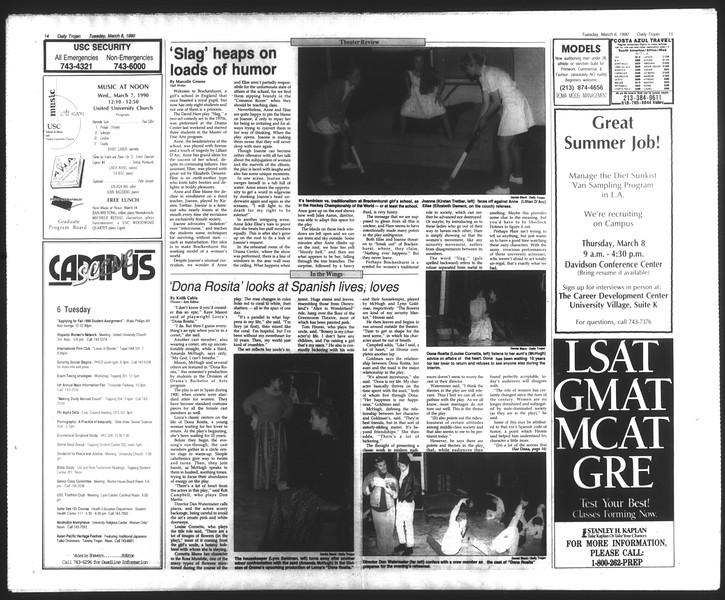 Daily Trojan, Vol. 111, No. 36, March 06, 1990