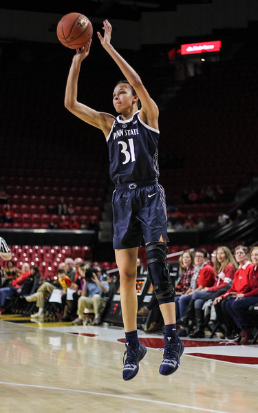 January 20, 2019: Penn State guard Jaida Travascio-Green (31) attempts a three pointer during Big Ten womens basketball action between Penn State and University of Maryland in College Park. Photo by: Chris Thompkins/Prince Georges Sentinel