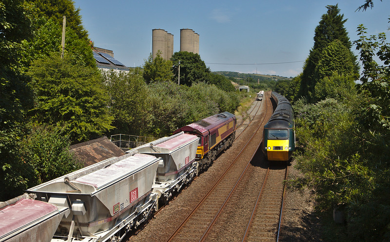 DB Schenker 66031 on the china clay loads 675U Parkandillack to Fowey Dock Carne Point