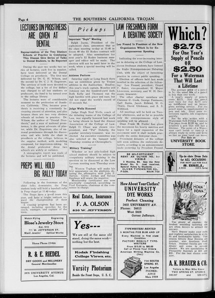 The Southern California Trojan, Vol. 7, No. 90, March 22, 1916