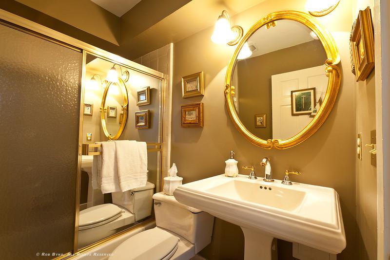 Full Bath on main floor, adjoining spacious guest bedroom.