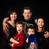 Sergey Beloziorov, Sonya & Kids on a Black Background