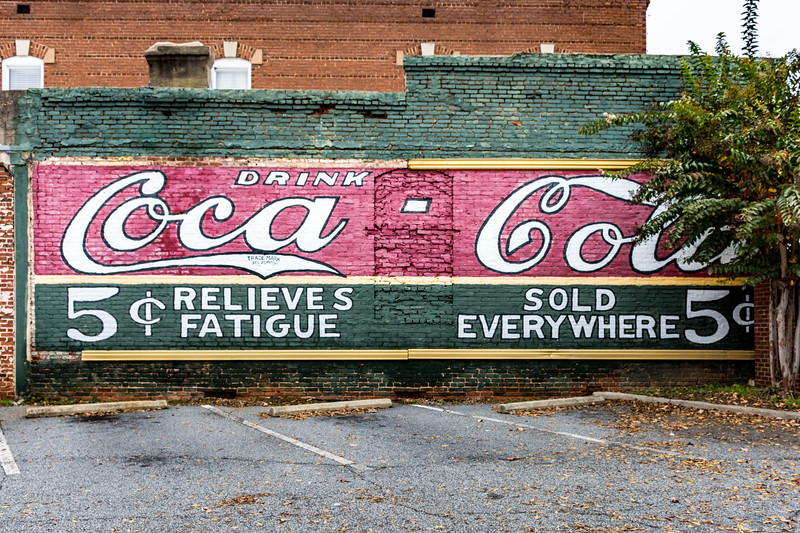 GA, Newnan - Coca-Cola Wall Sign 02