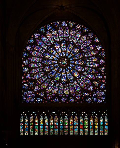 Notre Dame's North Rose Window