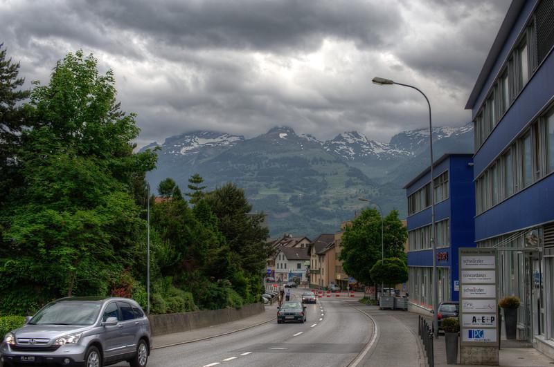 Scenic drive in Liechtenstein