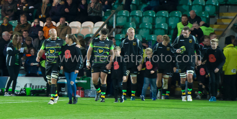 Remembrance match mascots, Franklin's Gardens, 11 November 2017