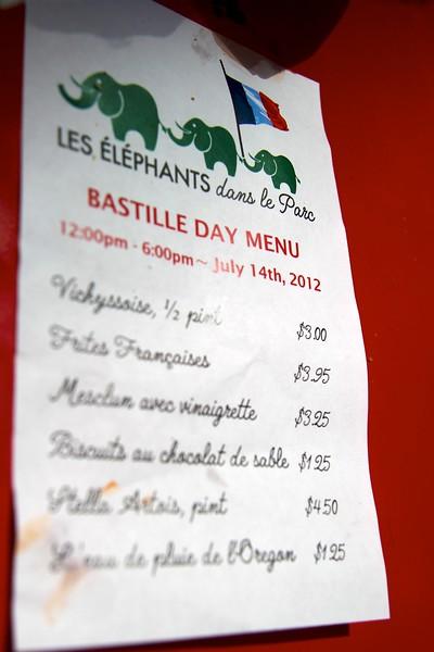 Bastille Day PDX July 14, 2012